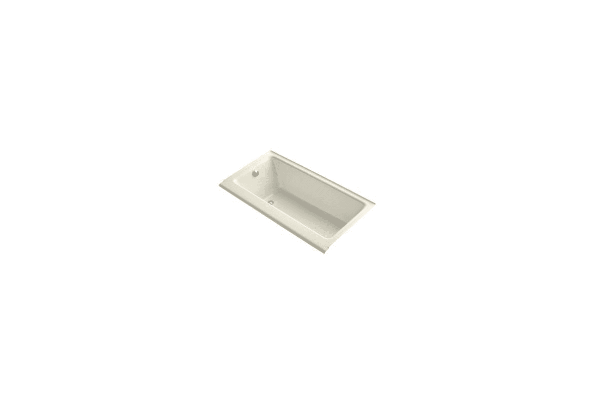 Kohler k 877 47 almond highbridge collection 60 drop in Cast iron tubs vs acrylic