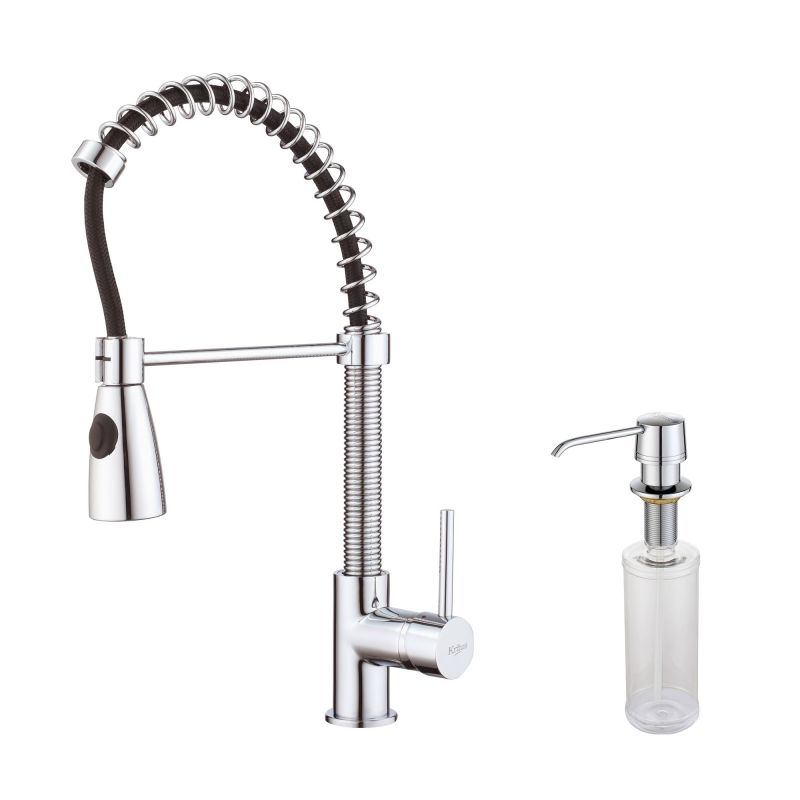 Kraus Kpf  Chrome Commercial Style Pre Rinse Kitchen Faucet