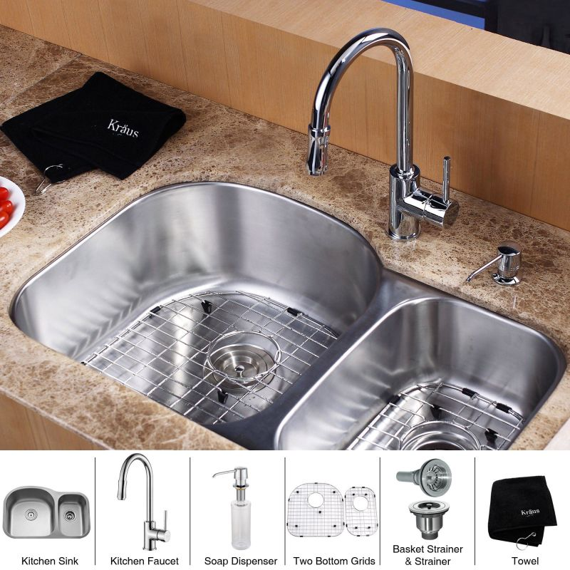 Kbu23 kpf1622 ksd30ch in stainless steel for Faucet soap dispenser placement