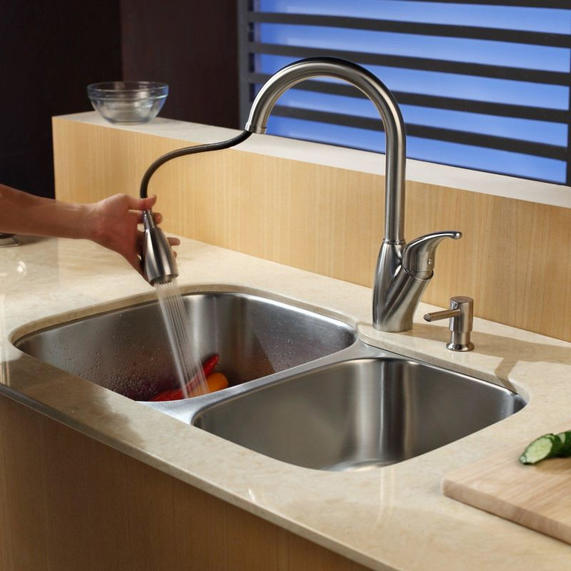 Faucet Com Kbu24 Kpf2120 Sd20 In Stainless Steel By Kraus