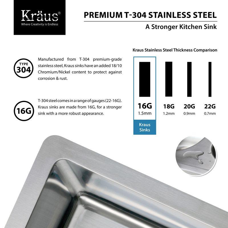 Kraus Brand Review : Kraus KHU100-32-KPF1612-KSD30CH Stainless Steel / Chrome Kitchen Combo ...