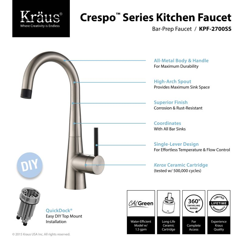 Kraus Brand Review : Faucet.com KHU32-19-272000CH in Chrome by Kraus