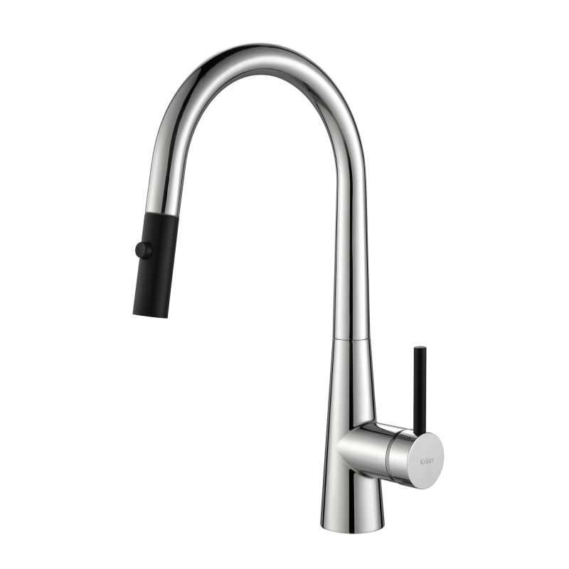 Kraus Brand Review : Kraus KPF-2720CH Chrome Crespo Single Lever Pull Down Kitchen Faucet ...