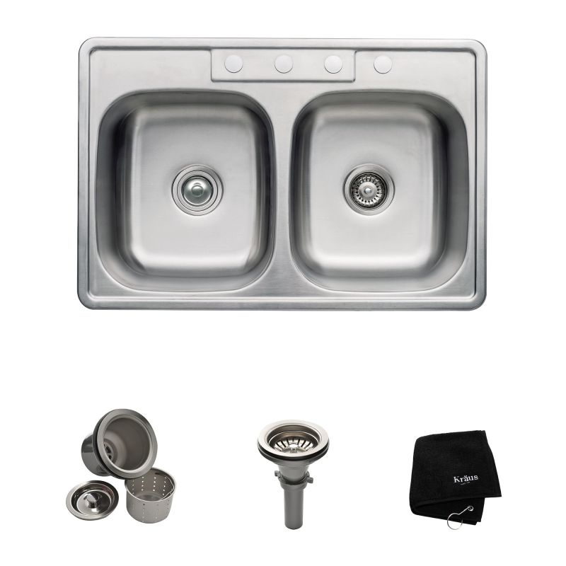 Kitchen Faucet With Separate Sprayer And Dishwasher Overflow