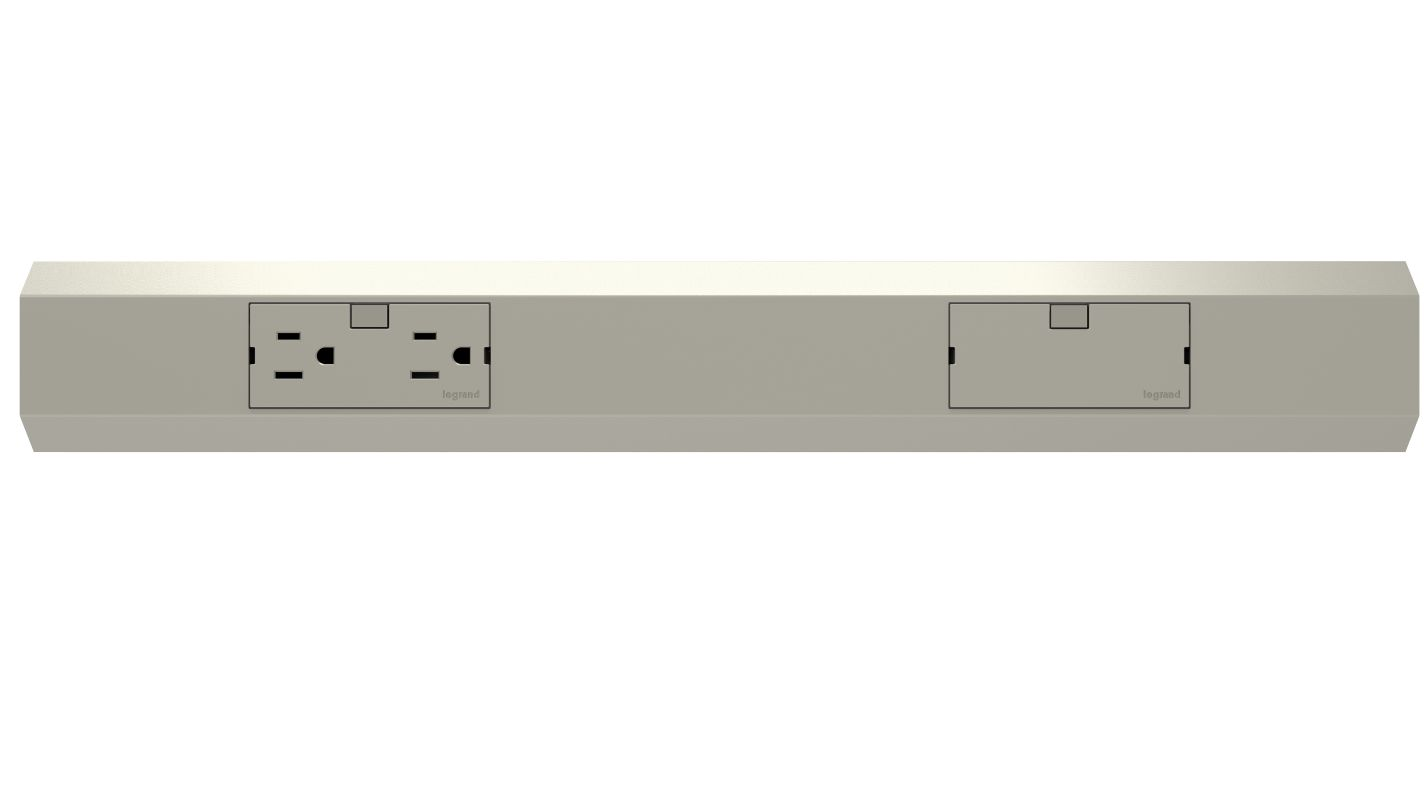 Legrand APMT18TM4 Titanium adorne Under Cabinet 18u0026quot; Modular Track - LightingDirect.com