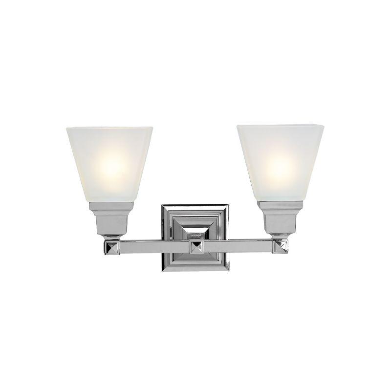 Shop Livex Lighting 2 Light Mission Chrome Bathroom Vanity Light At Lowes Com: Livex Lighting 1032 Bathroom Light