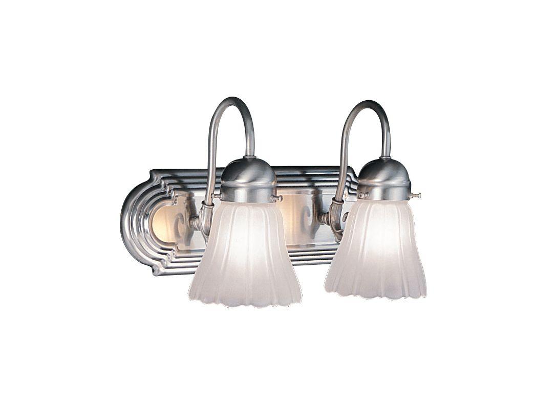 Livex 2 Light Bathroom Vanity Lighting Fixture Brushed: Livex Lighting 1102-91 Brushed Nickel 2 Light 200W