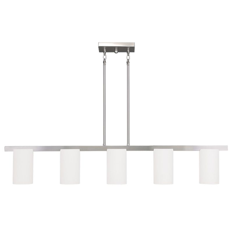 Livex Lighting 1327-91 Brushed Nickel Astoria 5 Light 1 Tier Chandelier - LightingDirect.com