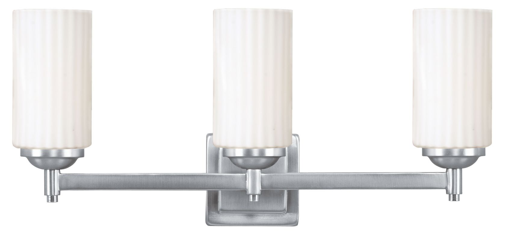 Livex Oldwick Modern Brushed Nickel 3 Light Bathroom: Livex Lighting 1423-91 Brushed Nickel Madison 3 Light