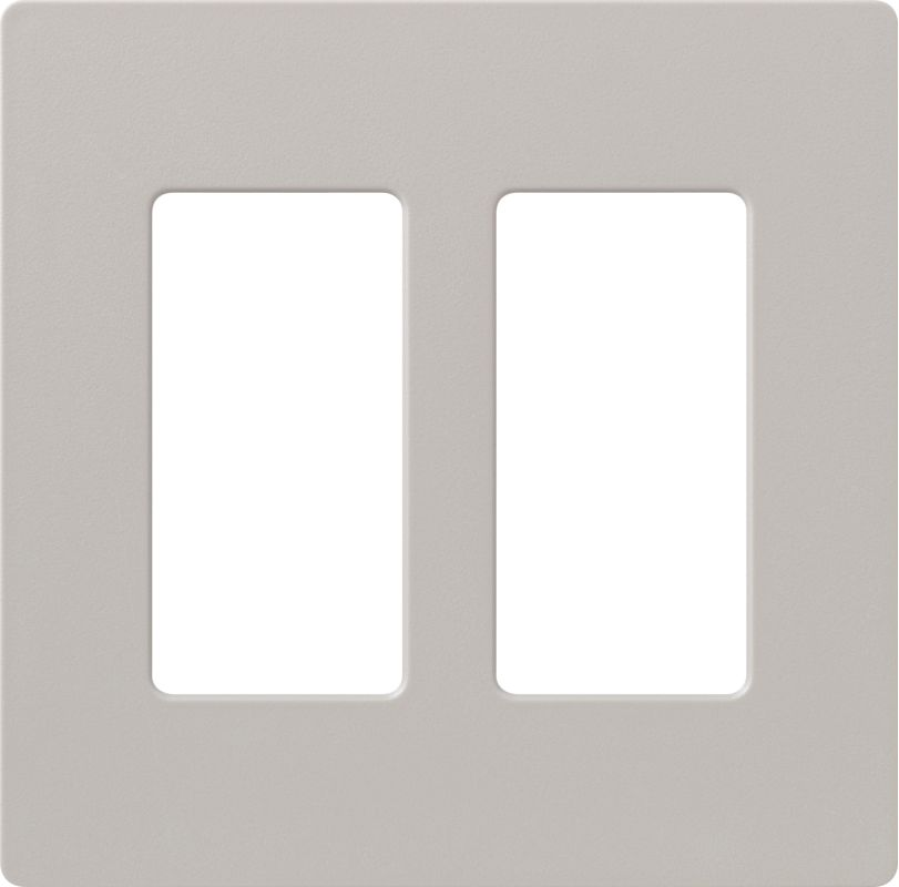 Lutron sc 2 tp taupe claro two gang designer wall plate - Gang grijze taupe ...