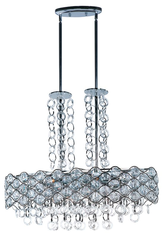 Maxim 23097BCPC Polished Chrome Cirque 12 Light 1 Tier Linear Chandelier - LightingDirect.com