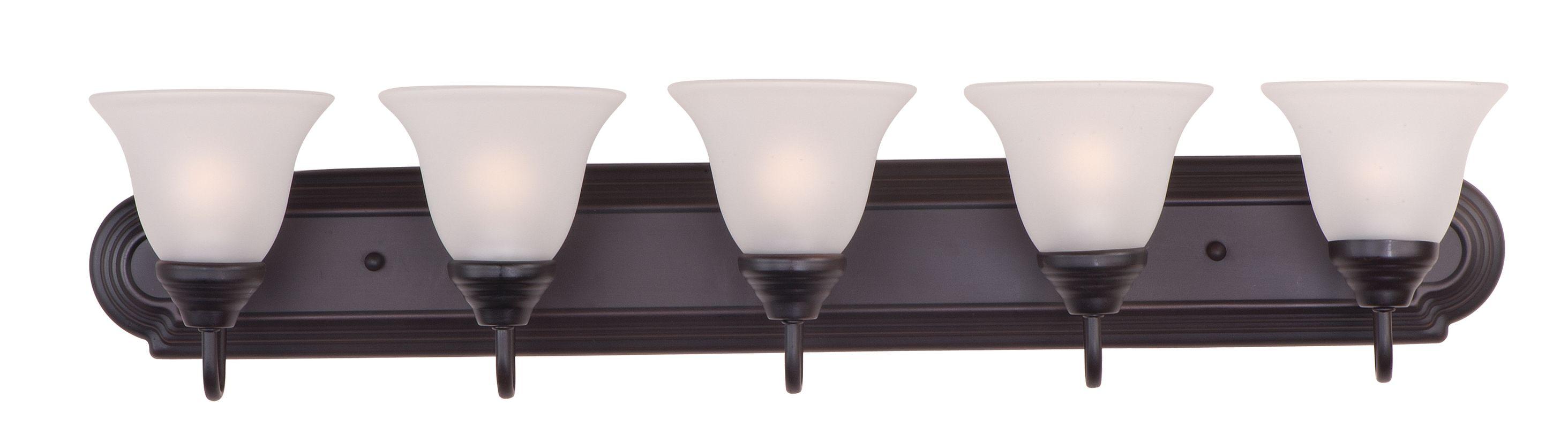 Maxim 8015ftoi Oil Rubbed Bronze Essentials 36 Wide 5 Bulb Bathroom Light Fixture