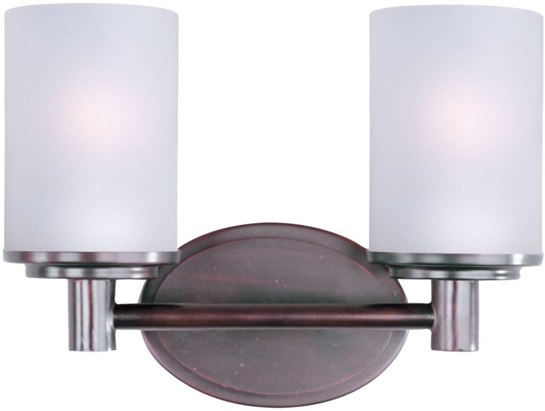 """Buy Feiss Clayton 4 Light Bath Vanity Fixture In Oil: Maxim 9052SWOI Oil Rubbed Bronze Cylinder 12.5"""" Wide 2"""