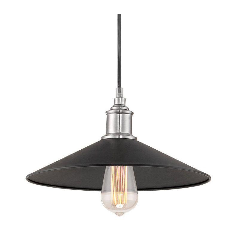millennium lighting 184 bk bn brushed nickel neo industrial 1 light. Black Bedroom Furniture Sets. Home Design Ideas