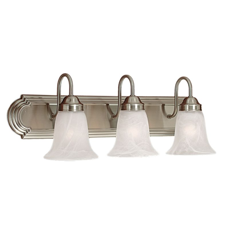 Vanity Light Without Junction Box : Millennium Lighting 483-SN Satin Nickel 3 Light Bathroom Vanity Light - LightingDirect.com