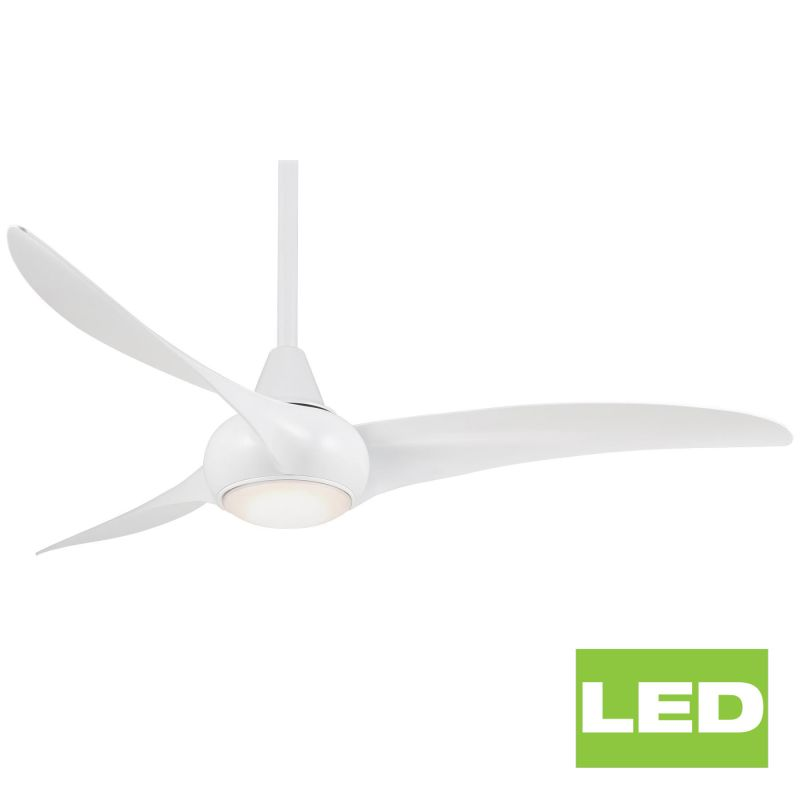Minkaaire F844 Wh White 52 Quot 3 Blade Light Wave Indoor
