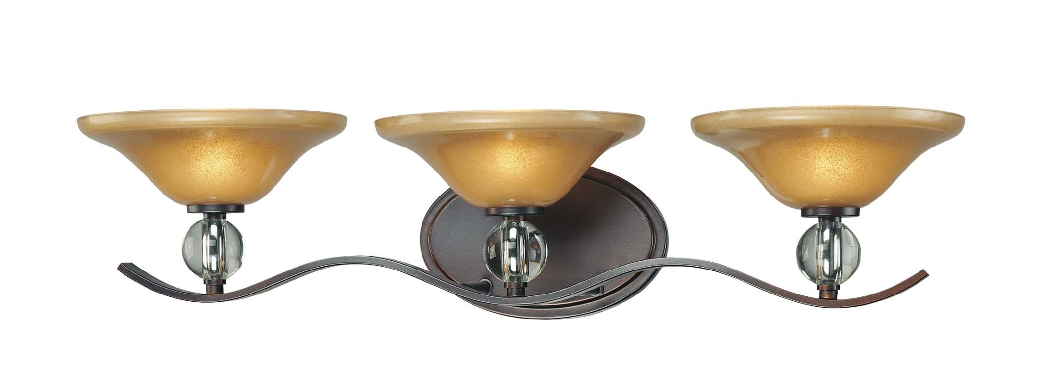 Can Vanity Lights Be Installed Upside Down : Minka Lavery 6483-167B Deep Lathan Bronze 3 Light Bathroom Vanity Light from the Grahmton ...