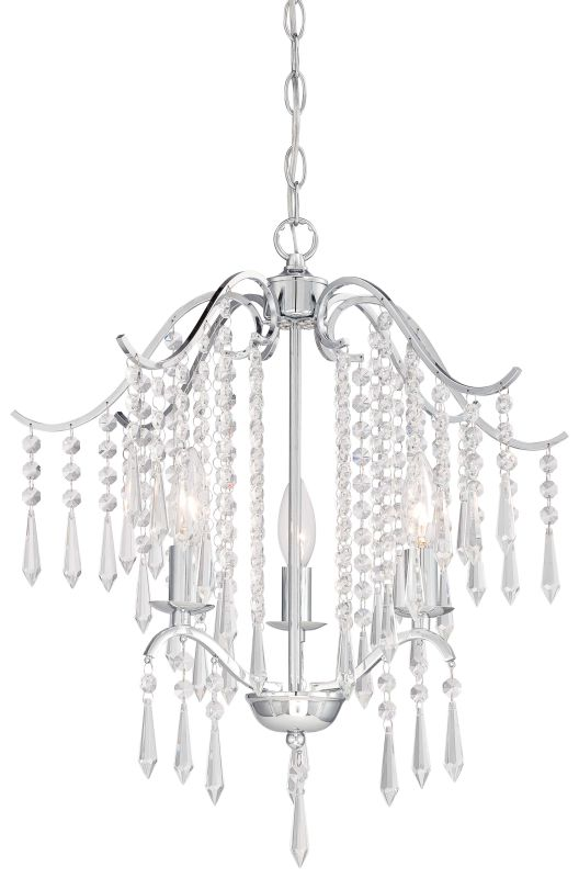 Minka Lavery 3151 77 Chrome 3 Light Single Tier