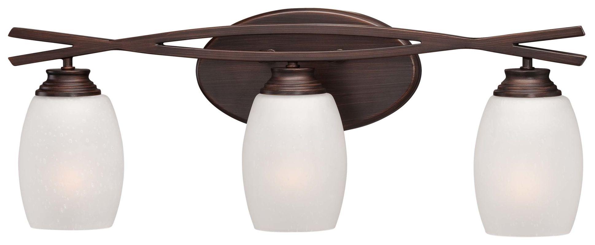 Portfolio 3 Light 22 In Brushed Nickel Bowl Vanity Light: Minka Lavery 6953-267B Dark Brushed Bronze 3 Light