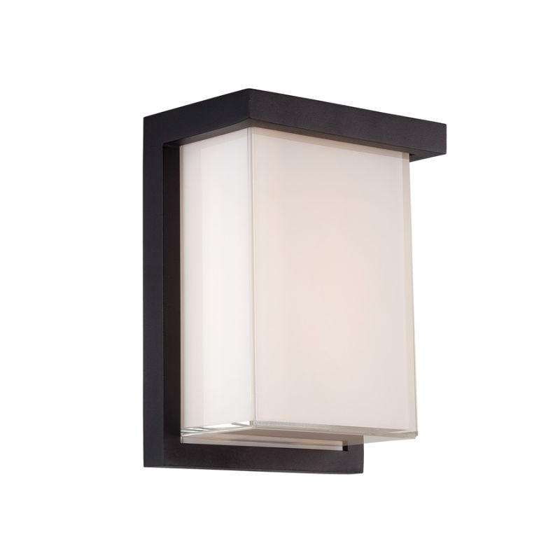 Modern Forms WS-W1408-BK Black Ledge 1 Light LED ADA Compliant Outdoor Wall Sconce - 6 Inches ...
