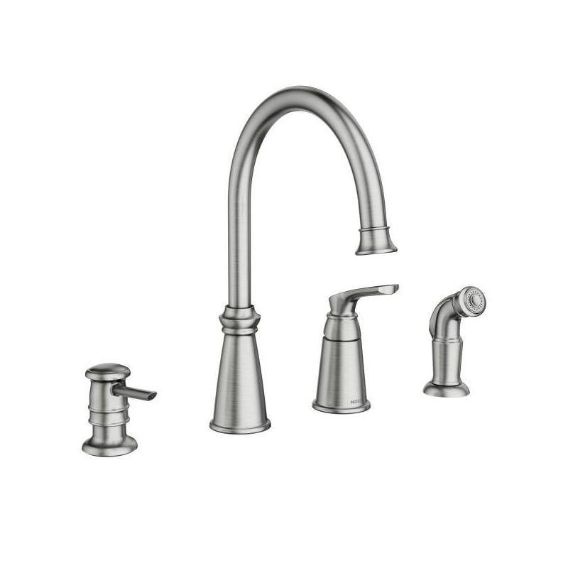 moen 87044srs spot resist stainless whitmore single handle