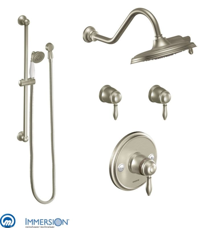 Moen 3070bn Brushed Nickel Thermostatic Shower System With
