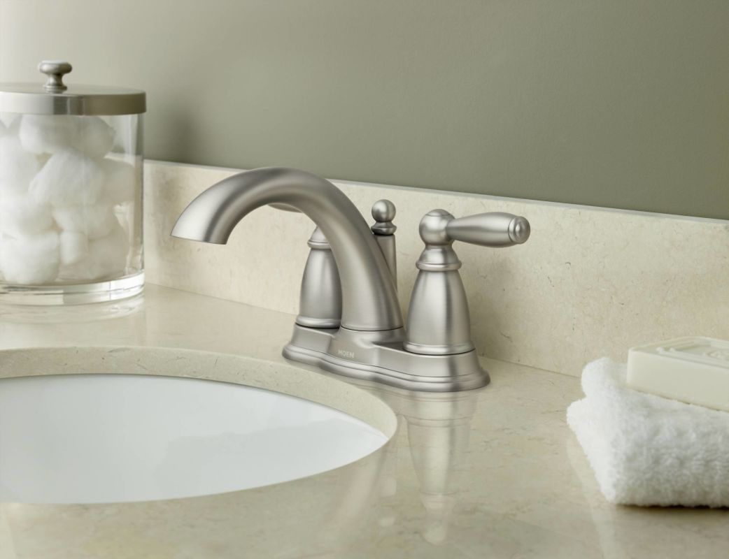 Kitchen Faucets Clearance Faucet Com 6610bn In Brushed Nickel By Moen