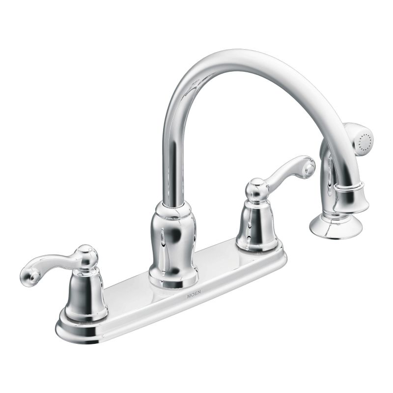 Moen Ca87004 Chrome High Arc Kitchen Faucet With Side