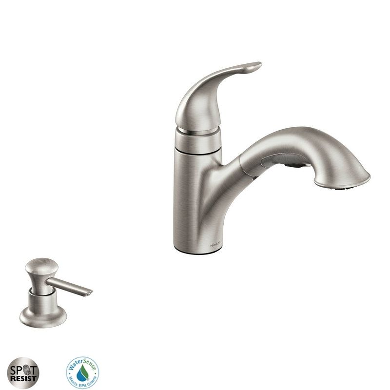 moen ca87550srssd spot resist stainless single handle