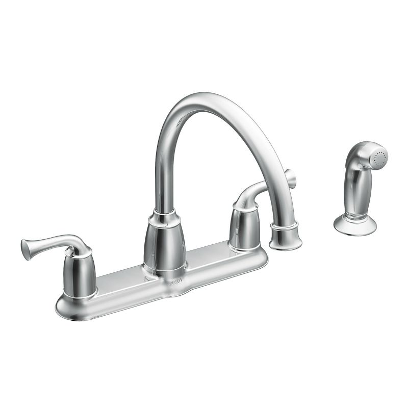 Moen Ca87553 Chrome High Arc Kitchen Faucet With Side