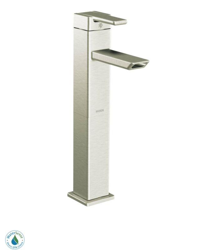 Moen S6711bn Brushed Nickel Single Handle Vessel Bathroom Faucet From The 90 Degree Collection