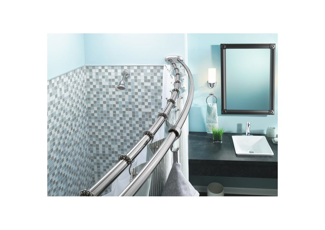 36 inch curved shower curtain rod