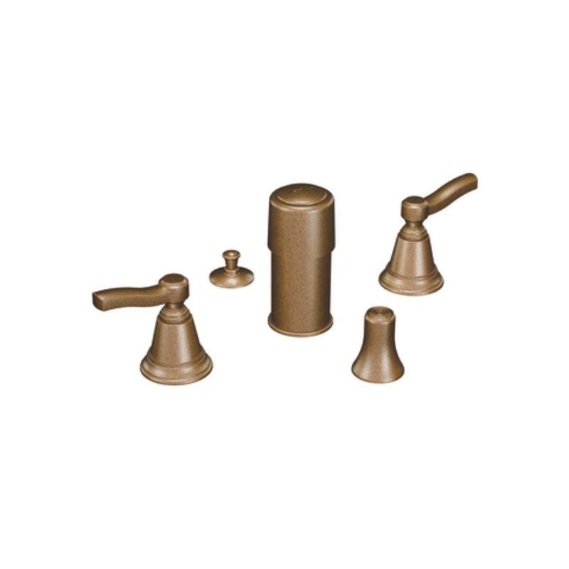 Moen Ts5285az Antique Bronze Double Handle Widespread