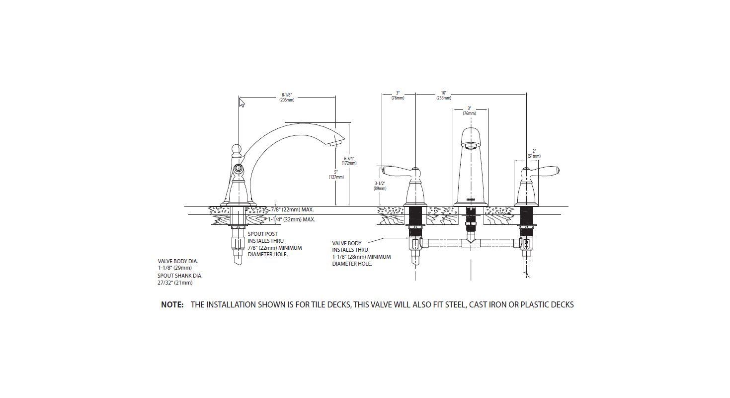 Moen T933 Roman Tub Faucet Build Com