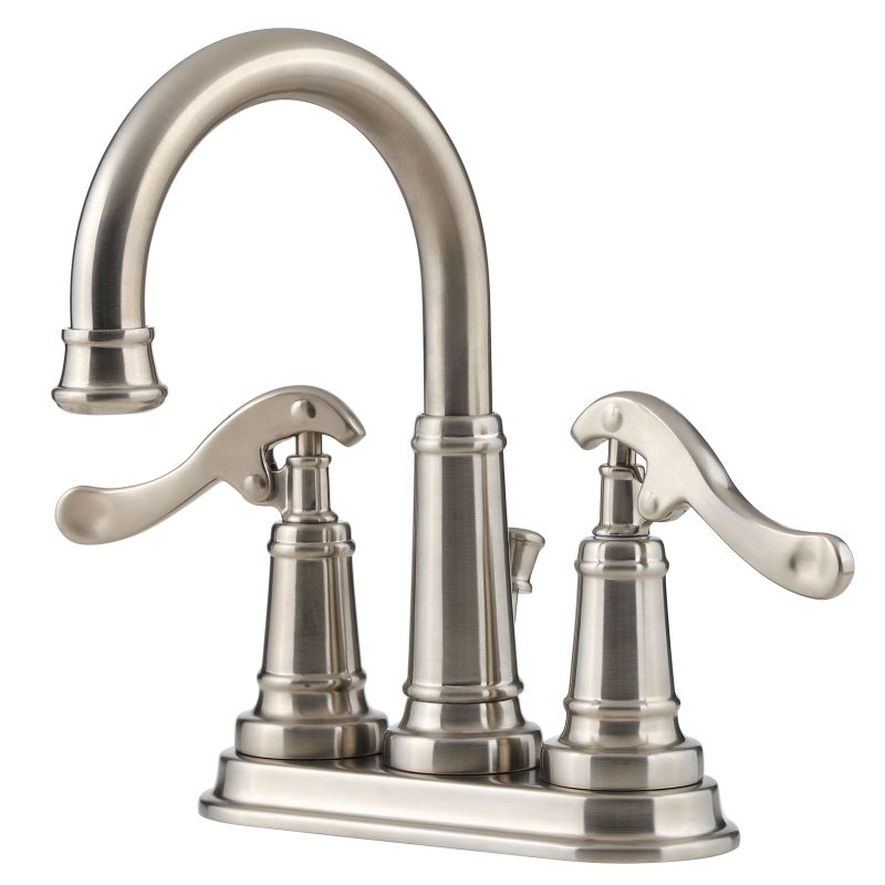 Pfister T43 Yp0k Brushed Nickel Ashfield Centerset Bathroom Sink Faucet With Country Pump Style
