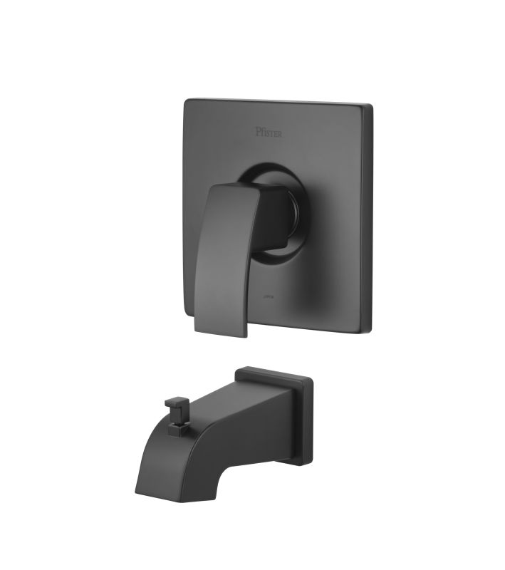 Pfister R89 5dfb Black Kenzo Single Handle Tub Filler Trim