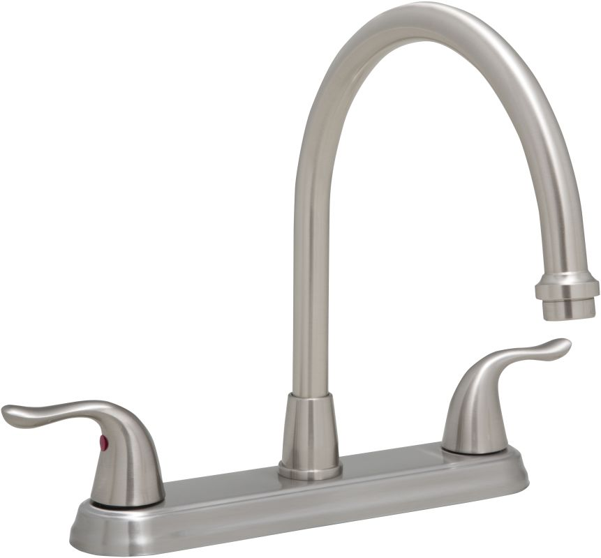 proflo pfxc6880lsbn brushed nickel 1 8 gpm double handle proflo pfxc8011cp polished chrome closeout pullout spray