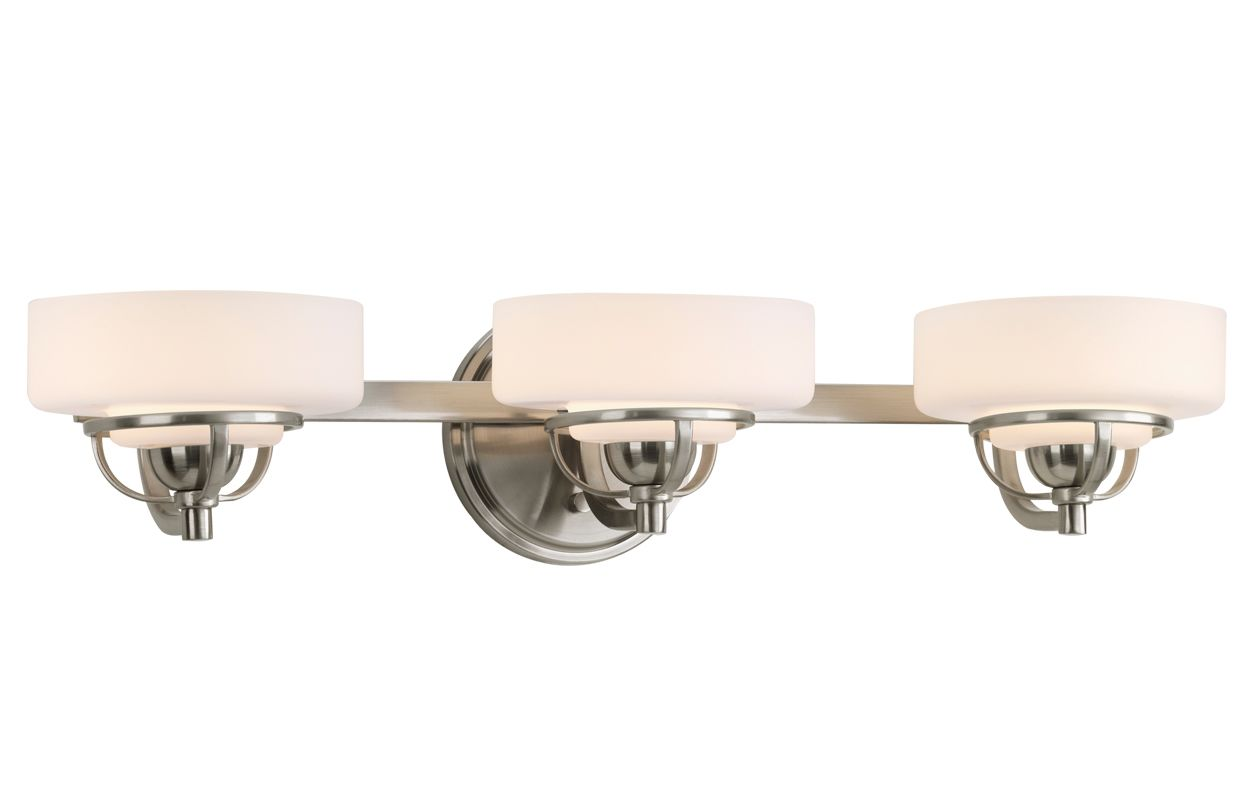 Progress Lighting Rizu Collection 3 Light Brushed Nickel: Progress Lighting P2721-09WB Brushed Nickel Torque Three