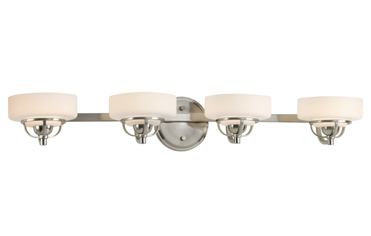 Progress Lighting Lucky Collection 4 Light Brushed Nickel: Progress Lighting P2722-09WB Brushed Nickel Torque Four