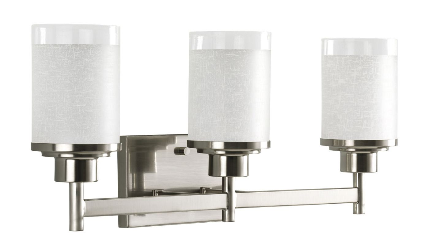 Progress Lighting Rizu Collection 3 Light Brushed Nickel: Progress Lighting P2978-09 Brushed Nickel Alexa 3 Light
