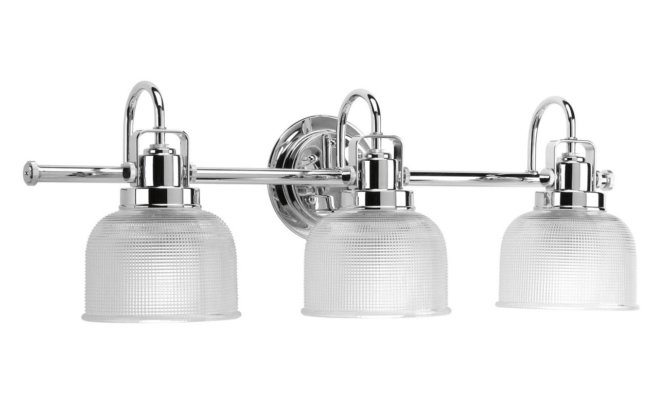 Progress Lighting P2992-15 Chrome Archie 3 Light Bathroom