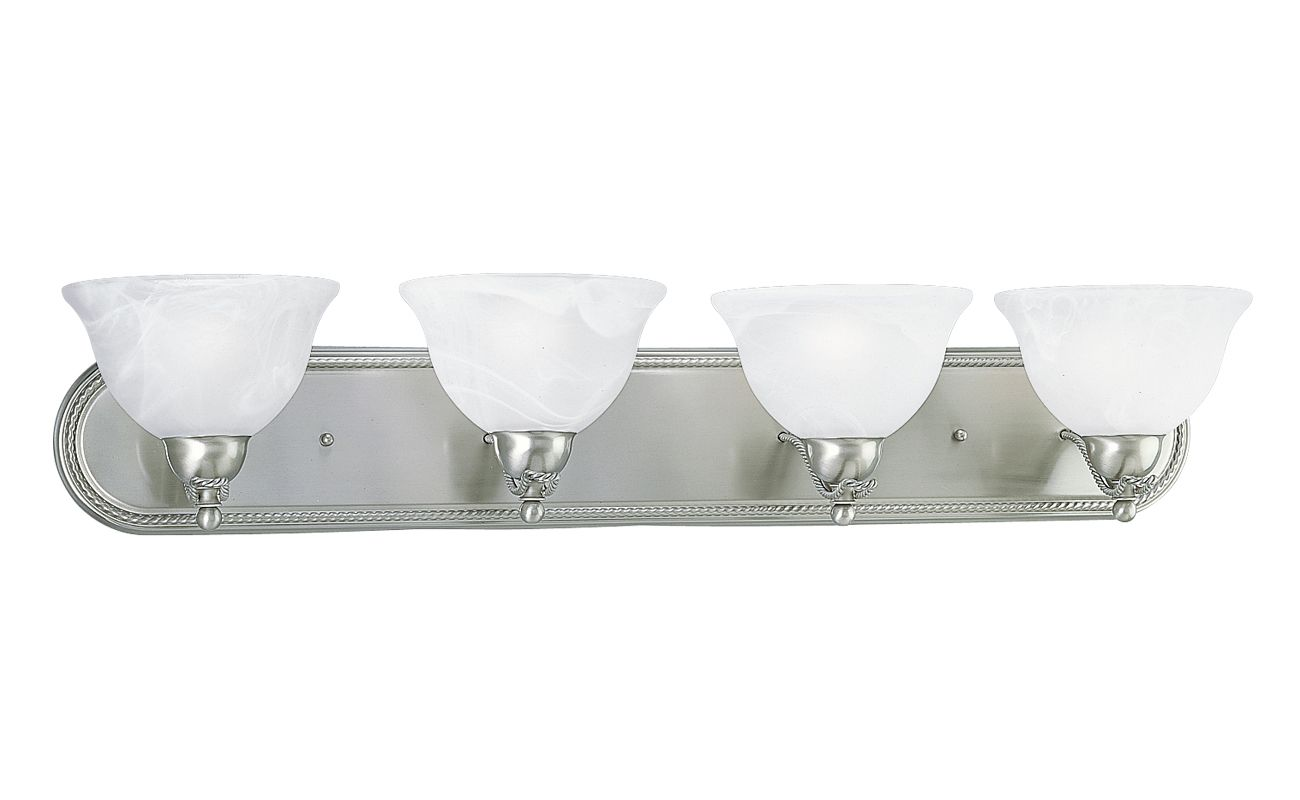 Progress Lighting Lucky Collection 4 Light Brushed Nickel: Progress Lighting P3269-09 Brushed Nickel Avalon Four