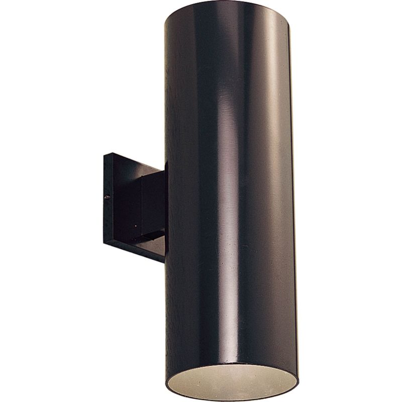 Progress Lighting P5642 20 Antique Bronze Cylinder 2 Light Outdoor Wall Sconc