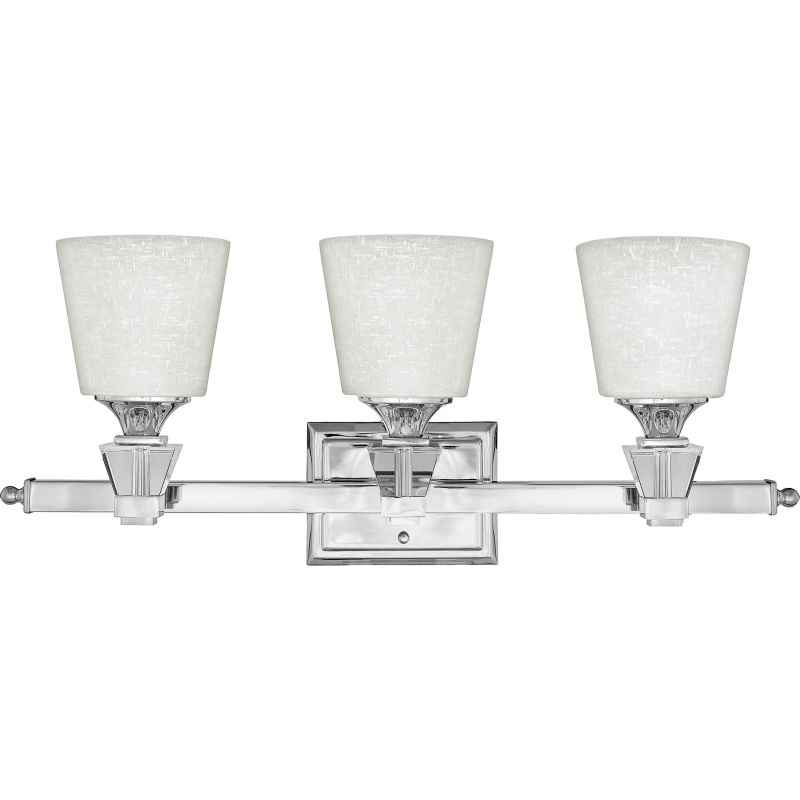Can Vanity Lights Be Installed Upside Down : Quoizel DX8603C Polished Chrome Deluxe 3 Light 26