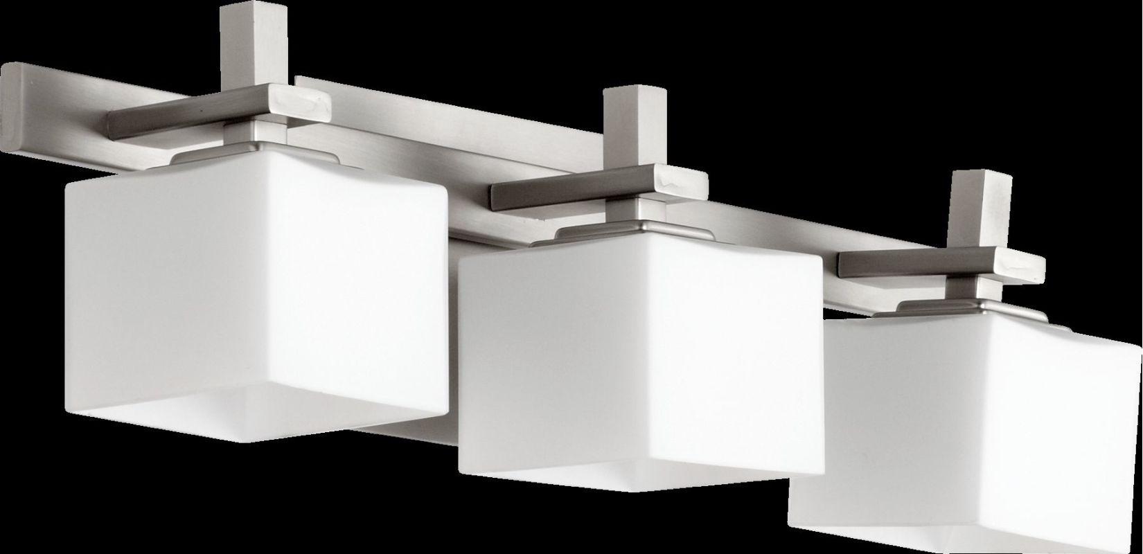 "Shop Portfolio 3 Light Vassar Brushed Nickel Bathroom: Quorum International 5365-3-65 Satin Nickel 5.25"" Height 3"