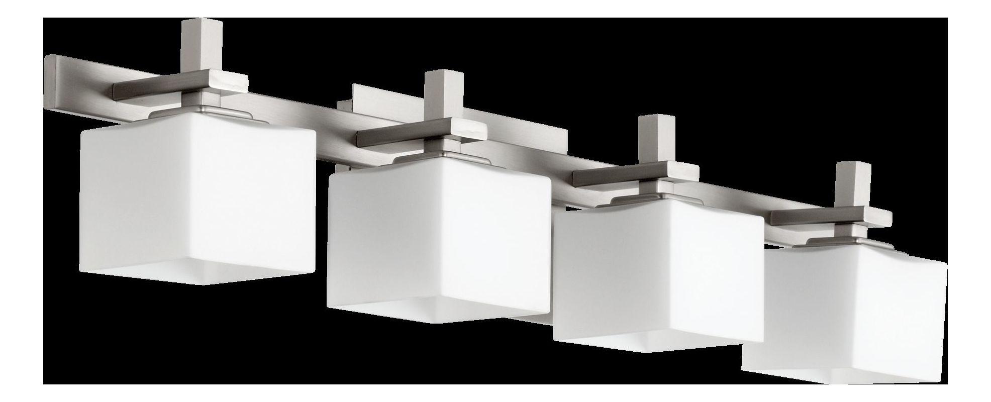 "Shop Portfolio 3 Light Vassar Brushed Nickel Bathroom: Quorum International 5365-4-65 Satin Nickel 5.25"" Height 4"