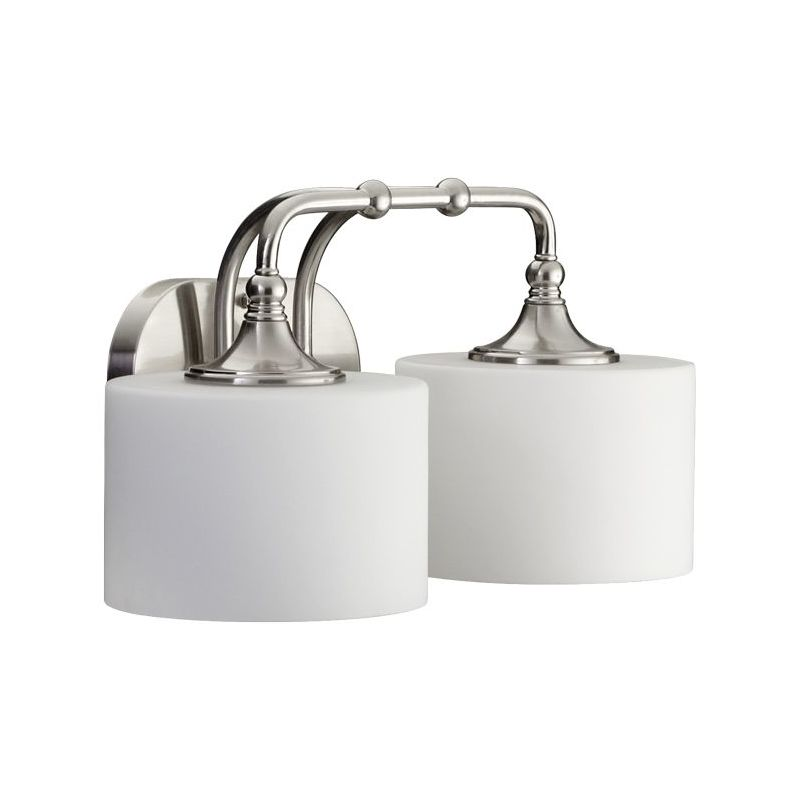 Mount Vanity Light Up Or Down : Quorum International 5090-2-65 Satin Nickel 2 Light Down Lighting Vanity Fixture from the ...