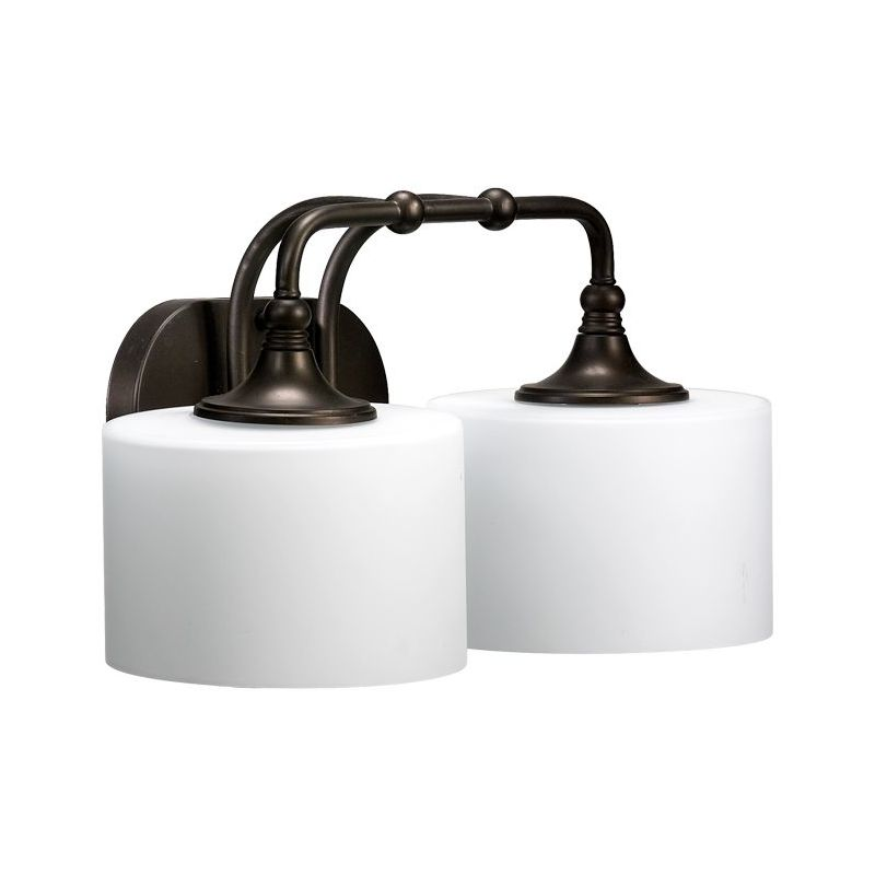 Mount Vanity Light Up Or Down : Quorum International 5090-2-86 Oiled Bronze 2 Light Down Lighting Vanity Fixture from the ...