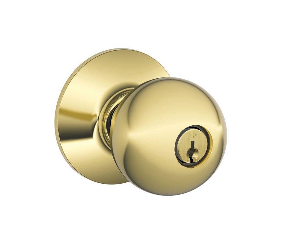Schlage F51aorb505 Lifetime Polished Brass Orbit Keyed
