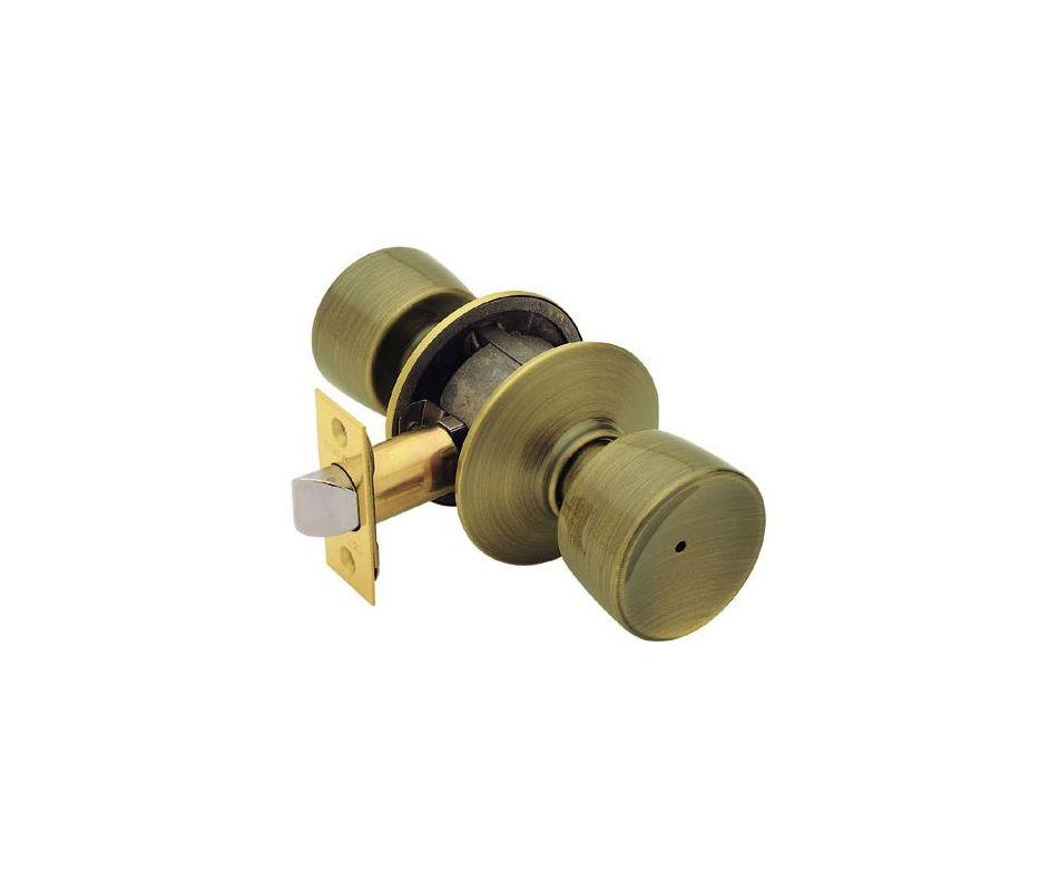 Schlage F40bel609 Antique Brass Bell Privacy Door Knob Set